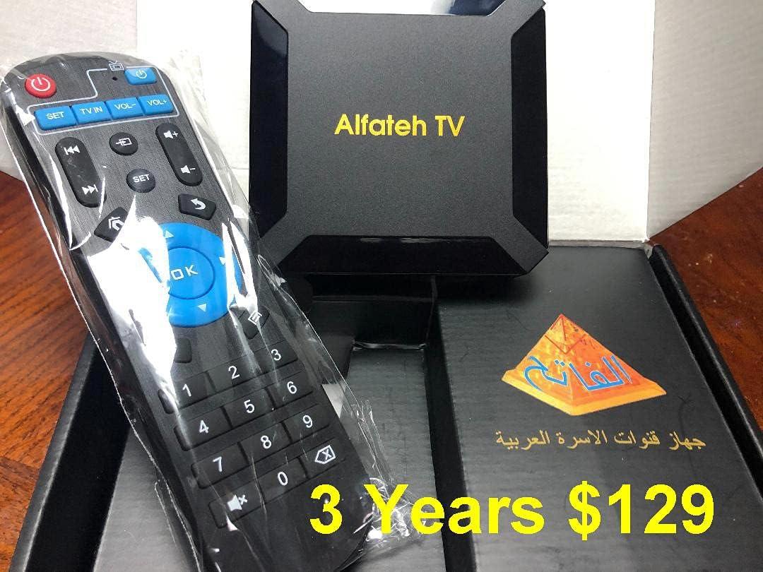 Best Arabic TV Box in USA with 3 Years of Services on it WiFi PVR CAST FAV USB Multi Media Player Android 10 Renewable الفاتح افضل جهاز قنوات عربية فى امريكا 3 سنوات
