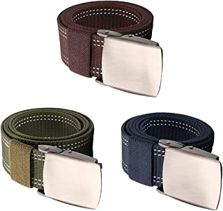 Sponsored Ad - Esquirla 3 Pieces Fashion Nylon Waist Belt Cummerbund Web Belt Adjustable