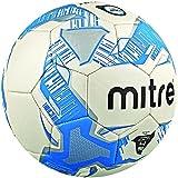 Mitre Unisex's Lite Training Football-White/Silver/Blue, Size 4