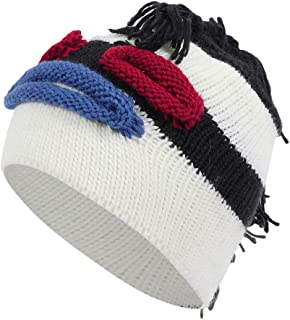 Ausexy_ Unisex Knit Beanie Winter Thick Solid Fleece Lined Beanie Hats Women Warm Skiing Hat
