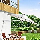 KELITINAus Sun Umbrelautdoor, 2.5M Redondo, Montado en la Pared, Plegable, Paraguas de Jardín, Ángulo Ajustable, Aleación de Aluminio, Adecuado para Patio Trasero Al Aire Libre, Jardín Y Terraza,con