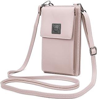 OB OURBAG Handytasche Damen Kleine, PU Leder Umhängetasche Mode Tasche Geldbörse Mini Damen Crossbody Tasche mit Kartenfäc...
