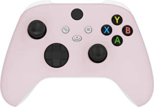 eXtremeRate Sakura Pink Replacement Front Housing Shell for Xbox Series X Controller, Soft Touch Custom Cover Faceplate fo...