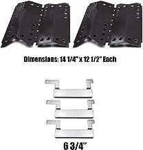 Grill Valueparts Grill Parts Kit for Stok SGP4330SB, SGP4330, SGP4130N, Stok Quattro 4 Burner Grills - 15 7/8 x 1 Stainless Burner, Porcelain Heat Shield, and Crossover Tube