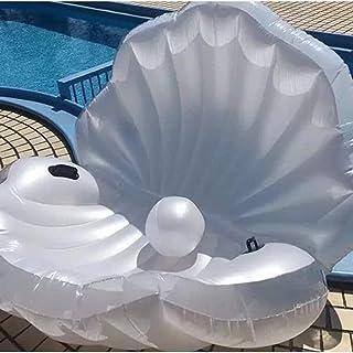 Piscina Flotador Inflable Gigante 170cm Vaso Verano 2019 Cama de Agua del Aire Ocioso Clamshell con Perla Seashell Junta Vieira