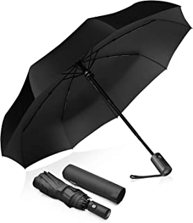 COAMANUG Travel Umbrella Compact/Lightweight/Portable Umbrella Auto Open/Close Button Windproof Construction