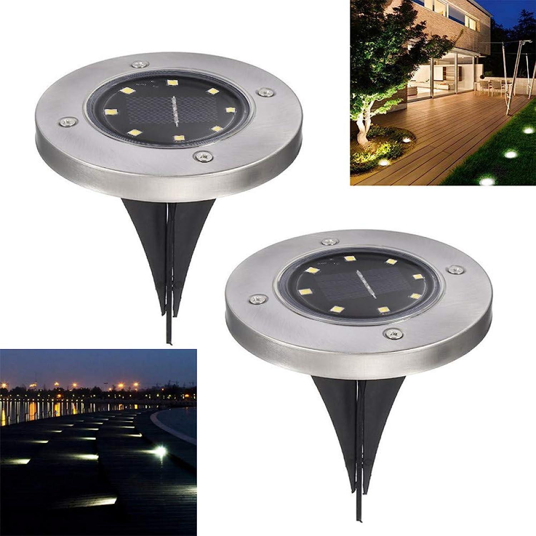 XLCJDJ Solarleuchte Solarbetriebene Bodenleuchte Wasserdichte Garten Pathway Deck Lichter Mit 8 Leds Solarlampe Für Haus Yard Einfahrt Lawn Road