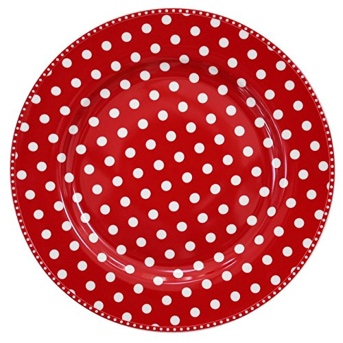 Krasilnikoff Speiseteller Dots red
