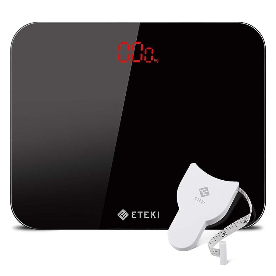 汚染する死んでいる完了Eteki 体重計 ヘルスメーター デジタル 3kgから180kgまで測定でき おまけのメジャー付き 高精度のボディースケール 薄型で軽量収納しやすい 乗るだけで電源ON EB4010J電子スケール(電池付属)