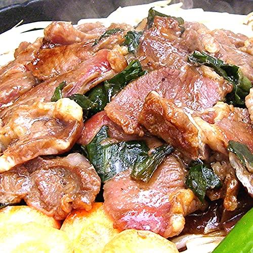 ラム肉 ジンギスカン 味付マトン 行者にんにく入り 1kg (行者ニンニク/冷凍品) 羊肉 BBQ 北海道 じんぎすかん 千歳ラム工房 お取り寄せ