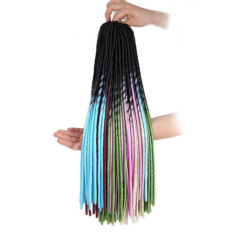 誇張インディカ伸ばすウィッグウィッググラデーション編組編組黒根自然な柔らかい髪の人工