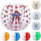 Bola de fútbol hinchable rápida para parachoques de 1,2 m / 1,5 m, transparente, hinchable, para adultos y niños, 1.2M, Rojo