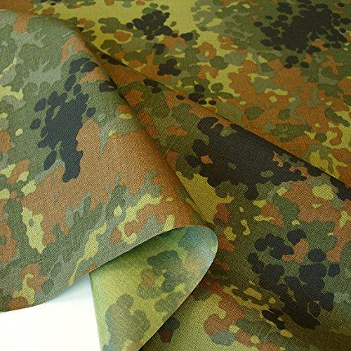 TOLKO Camouflage Stoff aus 560dtex Cordura Nylon   Wasserdicht, Reißfest, Extrem robust   Segeltuch Meterware im Armee Flecktarn der Bundeswehr   mittelschwer 150cm breit (beschichtet)