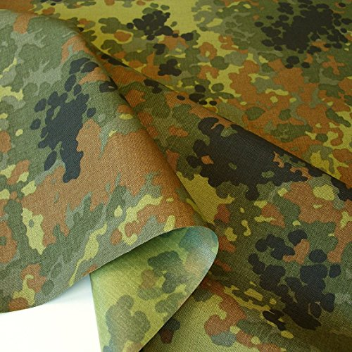 TOLKO Camouflage Stoff aus Cordura Nylon | Wasserdicht, Reißfest, Extrem robust | Segeltuch Meterware im Armee Flecktarn der Bundeswehr | mittelschwer 150cm breit (Bundeswehr beschichtet)