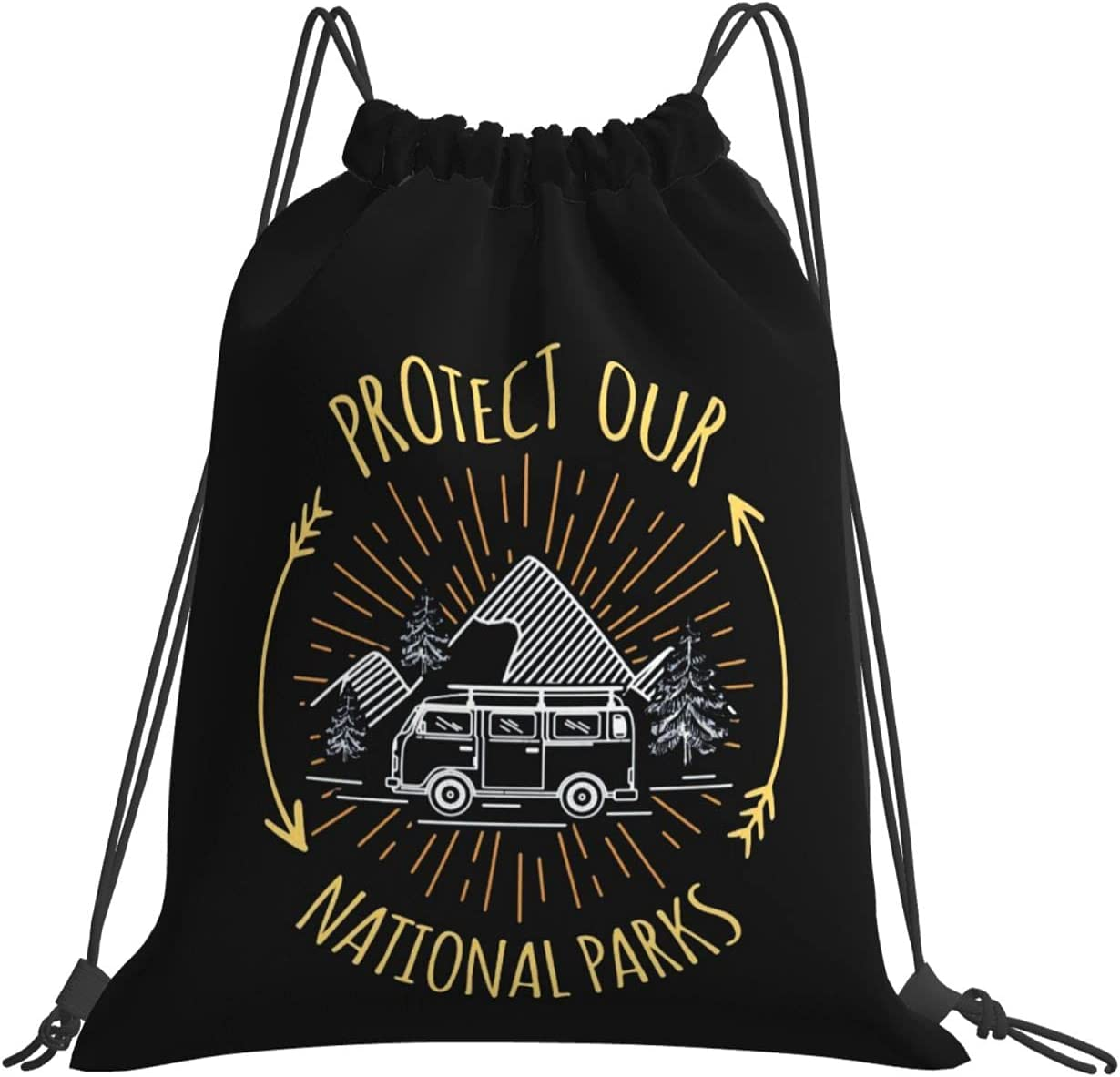 Protect Our Animer and price revision National Parks Drawstring Bags Gym Sack T Beam Max 62% OFF Mouth
