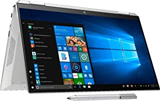HP Spectre X360 13t Convertible Laptop 10th Gen Intel i7-1065G7 1.3Ghz, 8GB, 512GB SSD +32GB Optane, 13.3 FHD Touchscreen, FP, Aluminum chassis, Stylus Pen, Sleeve, Eng-RGB backlit KB, Win 10, Silver