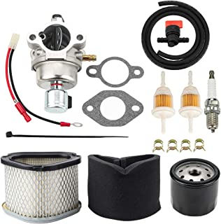 Leopop 42 853 03-S Carburetor w Air Filter Oil Filter for Kohler CV13 CV14 CV15 CV15S CV16 15HP Engine John Deere GY20574 M92359 LT155 Lawn Mower 20-853-33-S 12-853-93-S 1285393-S Carb Kit