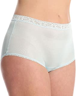 Lorraine Nylon Full Brief With Lace Trim Panty (LR102) 10/Cloud
