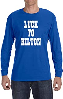 Blue Indianapolis Luck to Hilton Long Sleeve Shirt
