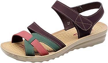 Sandalias para Mujer,Sandalias Mujer Verano 2019 Sandalias Planas Sandalias de Vestir Playa Zapatos Sandalias de Punta Abierta Roma Casual Sandalias Fiesta Cómodo Zapatos Tacón Alto vpass