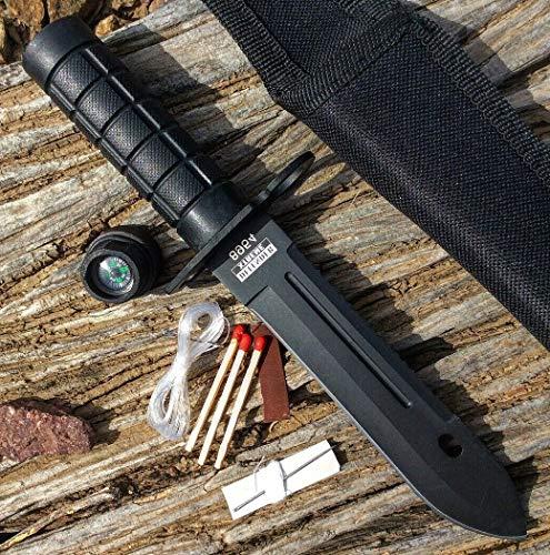 8.5  Defender-Xtreme Mini Survival Bayonet Hunting Knife Ultra Sharp Fixed Blade Knife Serrated W Sheath Camping Survival Pocket Knives