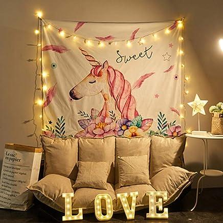 JTWJ 北欧スタイルの背景布イン風ハング布寮の改修壁布ベッドヘッド壁タペストリー寝室の装飾51.1X59.0in (Color : B)