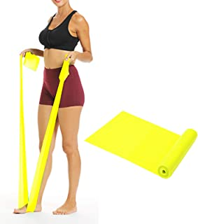 YOCAGO Resistance Exercise Bands Latex Elastic Bands for Strength Training, Yoga, Pilates, Fitness, Physical Therapy - Hom...