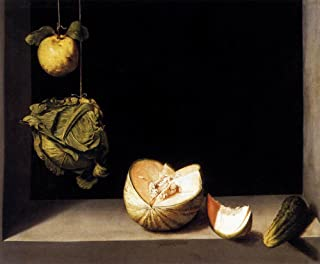 Still-Life with Quince, Cabbage, Melon and Cucumber by Juan Sanchez Cotan - 20