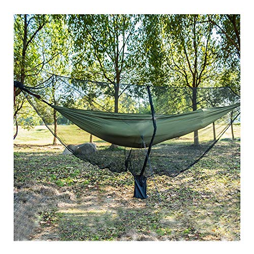 YOUDAN Outdoor Mosquito Net Cover 360 Degree All-round Hammock Net Cover Ultralight Portable Hammock Mosquito Net 330150cm Ground Nail Wind Rope Universal Nylon Camping Hammock Net Cover,B,330 * 150