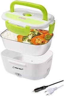 CGGK TECH Lunch Box Chauffante Hermétique 12V 220V Gamelle Chauffante Électrique en Acier Inoxydable de Qualité Alimentair...