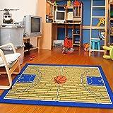 Dalyn Rugs Woven Printed Carpet Area Rug, Basketball, Blue