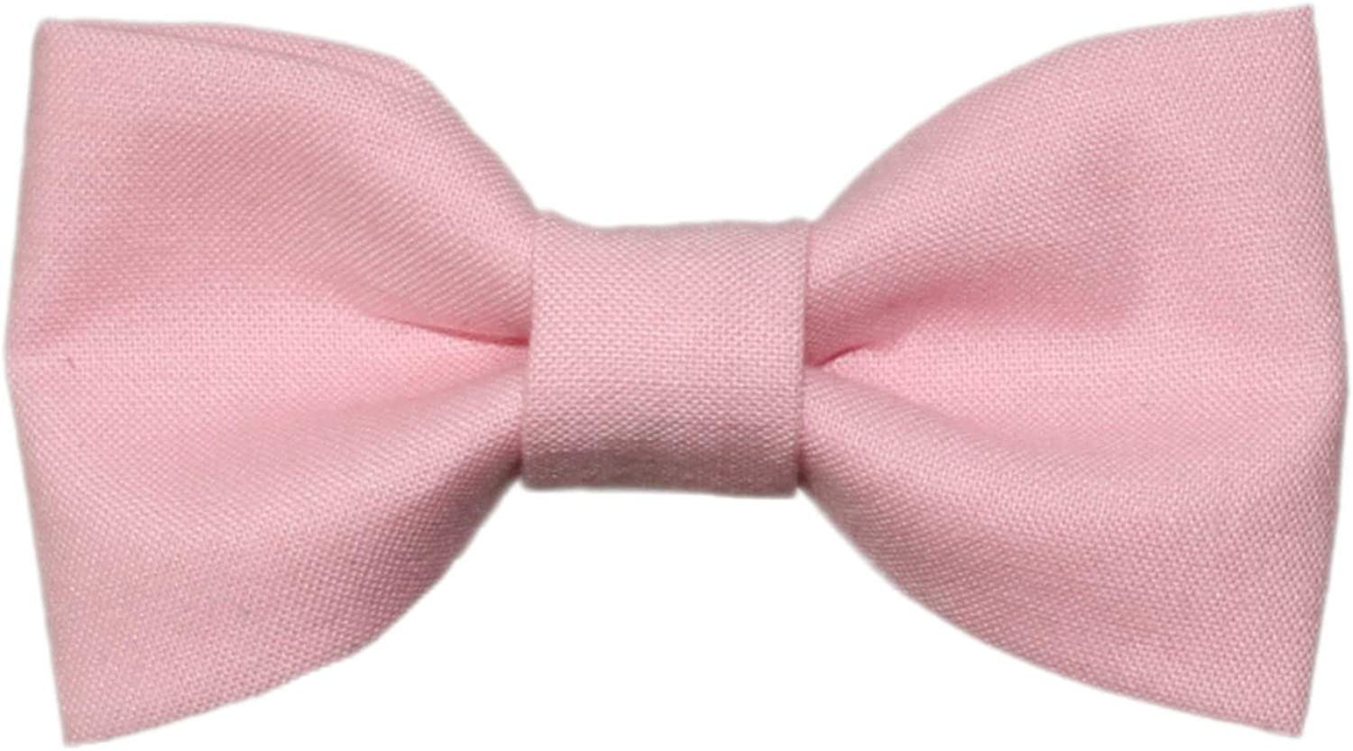 Toddler Boy 4T 5T Peony Pink Clip On Cotton Bow Tie - Made In The USA