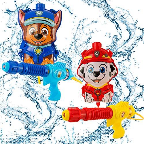WENTS Wasserpistole Spielzeug Rucksack Marshall Wasser Pistole für Kinder und Erwachsene Water Gun Water Blaster für Sommerpartys im Freien Strand Pool Garten Strandspielzeug 2pcs