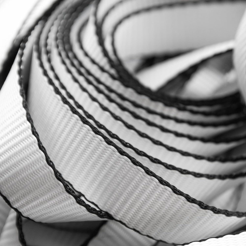 1  (25mm) Alfa Slackline Webbing   Black White   WLL 6.4kN   Polyester   1 Year Warranty