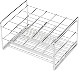 Stainless Steel Test Tube Rack, 30mm, 20 Place, Wire Constructed, Handles, Karter Scientific 235D3 (Single)