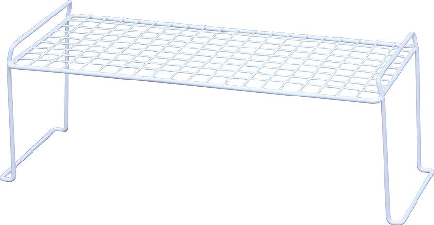 に向けて出発ベストサンダーアイリスオーヤマ スタッキング ワイヤー シェルフ 幅60.4×奥行40.6×高さ30.4cm ホワイト WSS-105