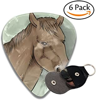 Horse 6 Pack Unique Guitar Gift for Electric Guitar,Acoustic Guitar,Mandolin,and Bass .96mm Celluloid Picks