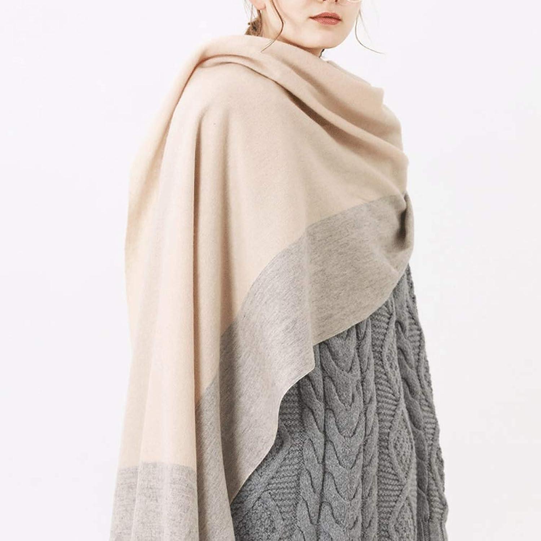 CHX Scarf Woman Winter Keep Warm Thicken Lattice Shawl 200cm×60cm V (color   A)