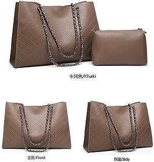 Shoulder Bag Hobos & Shoulder Bags Totes Shoulder Bag Lingge Big Bag Ms. Bag Dual-use Mother Bag Chain Bag Handbag Clutch (Color : Khaki)