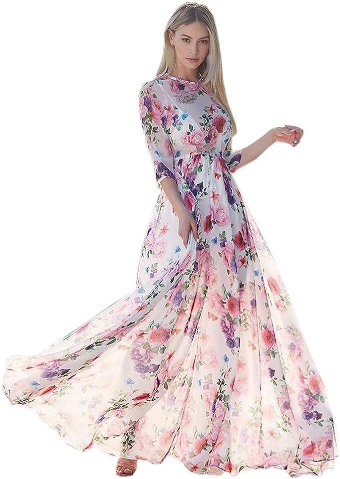 Damen Maxikleid Kleider Lang Kanpola Elegant Party Madi Kleid Boho Blusenkleider Cocktailkleider Partykleid Abendkleider Festliche Hochzeit Amazon De Bekleidung