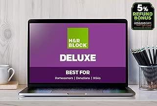H&R Block Tax Online 2018, Deluxe + 5% Refund Bonus [Buy on Amazon, file online with HR Block]