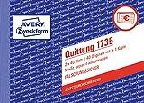 AVERY Zweckform 1735 Quittungsblock weiß