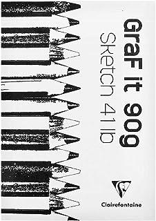 CLAIREFONTAINE Bloco de Desenho Graf It A5 90G/M², Branco