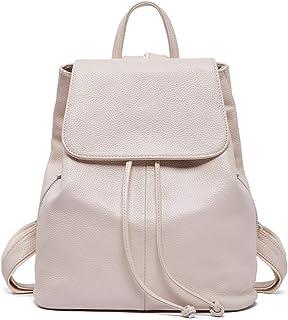 Genuine Leather Backpack for Women Elegant Ladies Travel Shoulder Bag