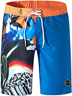 Swim Trunks for Men, Casual Loose Fit Striped Shorts Bathing Suit Quick Dry Workout Beachwear