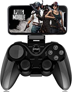IPEGA PG-9128 Wireless 4.0 Gamepad Trigger Pubg Controller Mobile Joystick Compatible iOS/Android Devices and Smart TV/Set-top Box/PC Computer(Black)