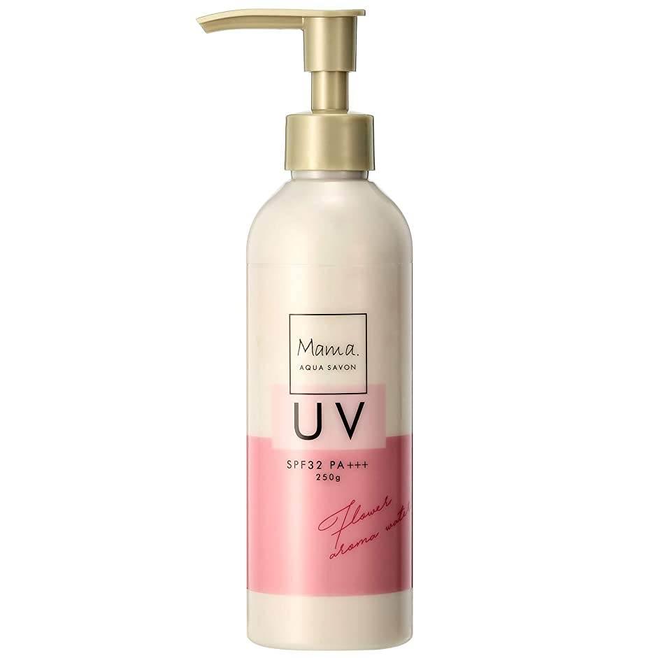 適合しました宙返り反対ママアクアシャボン UVモイストジェル フラワーアロマウォーターの香り 19S 250g