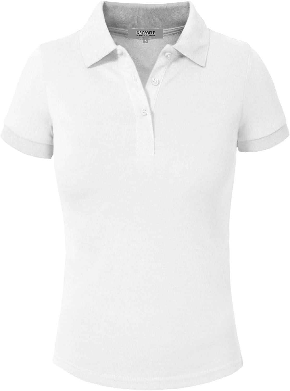 NE PEOPLE Womens Short Sleeve Pique Polo Shirt 16 colors S3XL