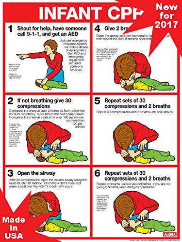 CPR for Infants Updated Standards for 2017-18' x 24' Laminated Poster