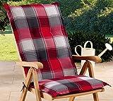 Schwar Textilien Gartenstuhlauflagen Sitzauflagen Auflage für Hochlehner Rot Grau UVP